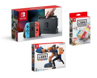 Nintendo Labo Robot Kit, Customization Set, and Nintendo Switch Console with Neon Joy Con Bundle