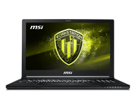 "MSI 15.6"" Mobile Workstation WS63 8SL-015 - Core i7 8750H, Win 10 Pro, 32 GB RAM, 512 GB SSD NVMe + 2 TB HDD,3840 x 2160 (Ultra HD 4K), Quadro P4200 - 802.11ac, Bluetooth, aluminum black"