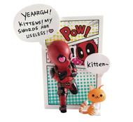 Beast Kingdom Marvel Comics Mea-004 Deadpool Jump Out of 4th Wall Mini Egg Attack Action Figure