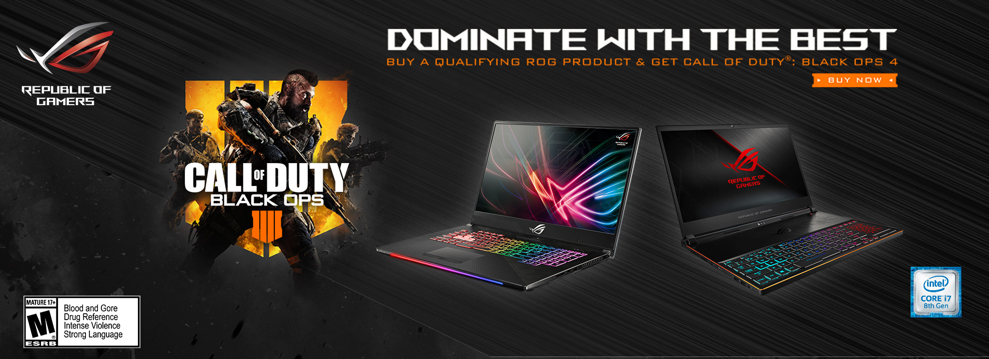 Buy a qualifying ROG product & get Free Call Of Duty: Black Ops 4