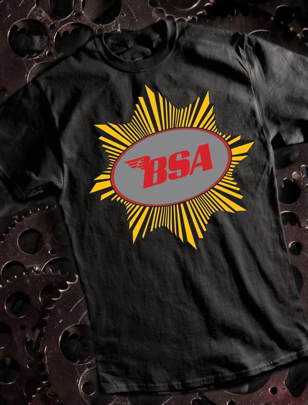 BSA Goldstart Mens T-shirt on Black
