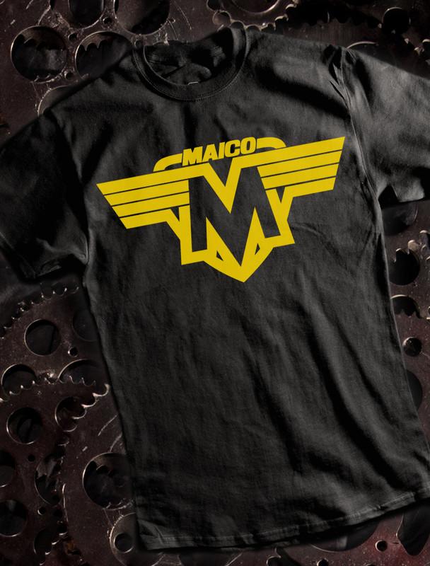 Vintage Maico Mens T-shirt on Black