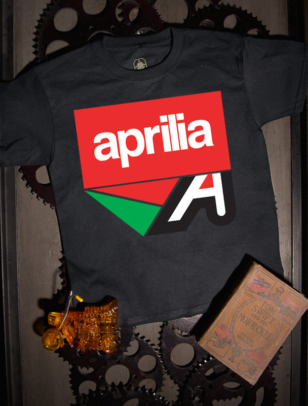 Aprilia  Kids T-shirt on Black