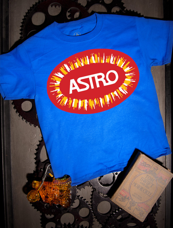 Bultaco Astro Kids Tee on Blue