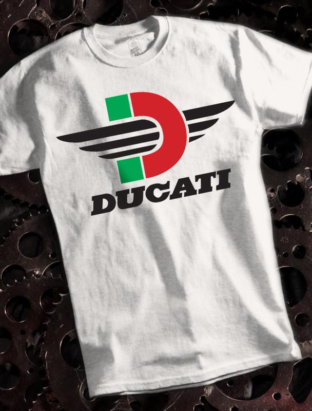 Ducati D Mens T-shirt on White