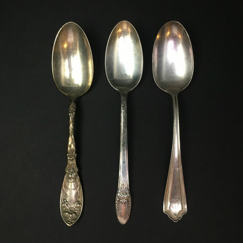Antique Plating Spoon - Set of 3