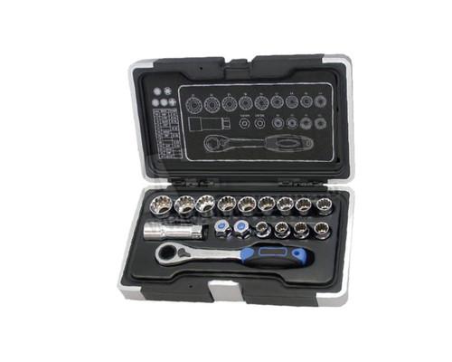 "Tradesure TS4019 Thru-Spline Socket Set Metric 1/4"" & 3/8"" 17pce"