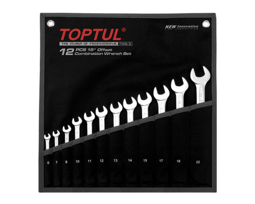 Toptul GPAB1203 Combination 15?? Spanner Set 12pce