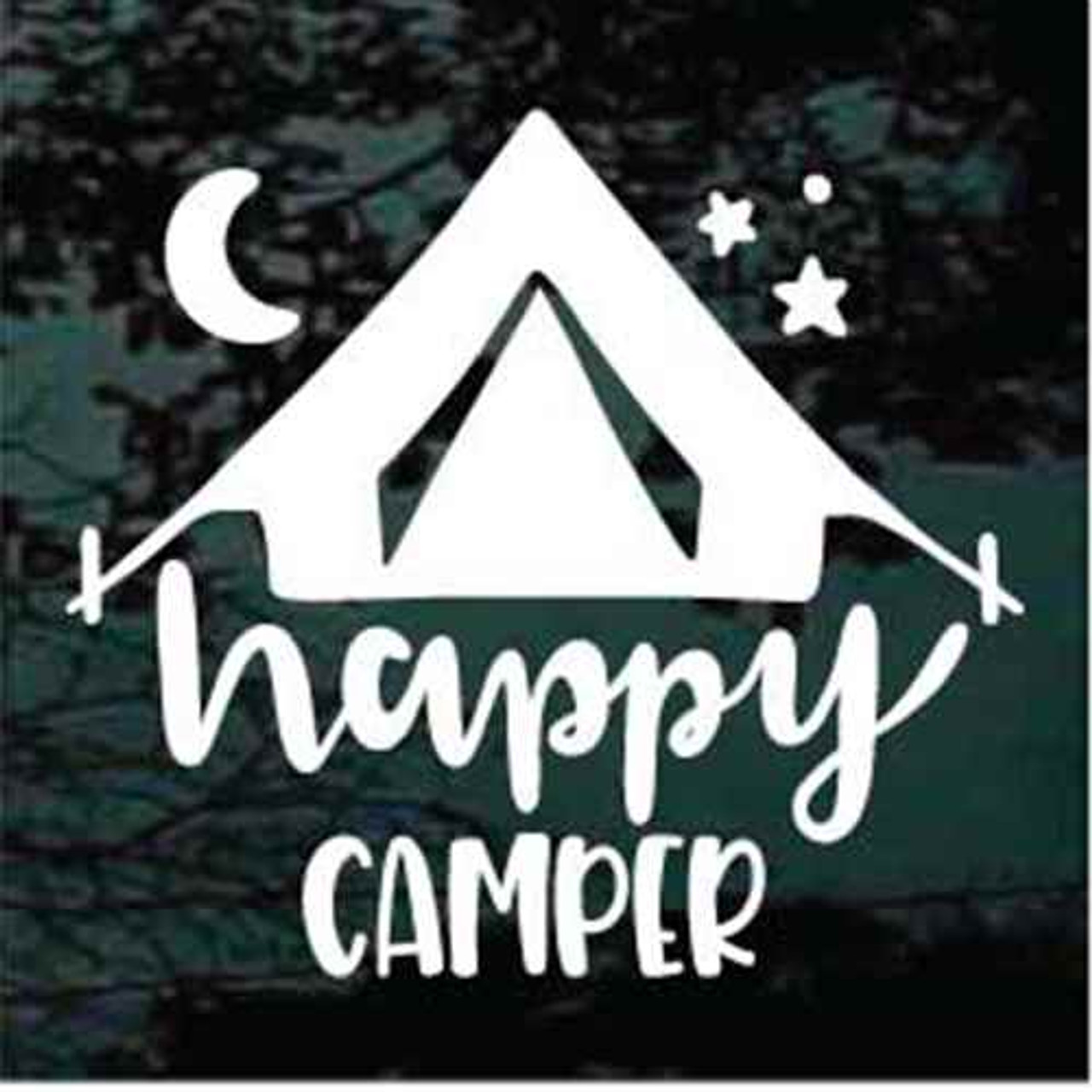 Decal Junky Happy Camper Tent