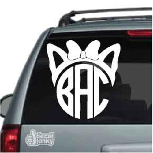 Cat Monogram Stickers