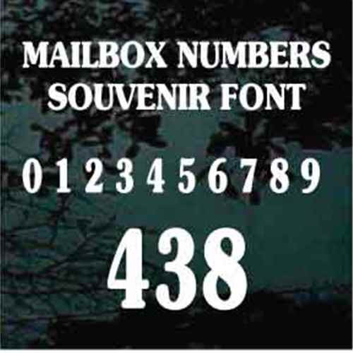 Mailbox House Numbers Souvenir Bold Text - Set of Two