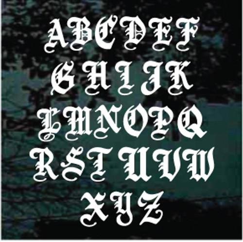 Old English Monogram Single Letter