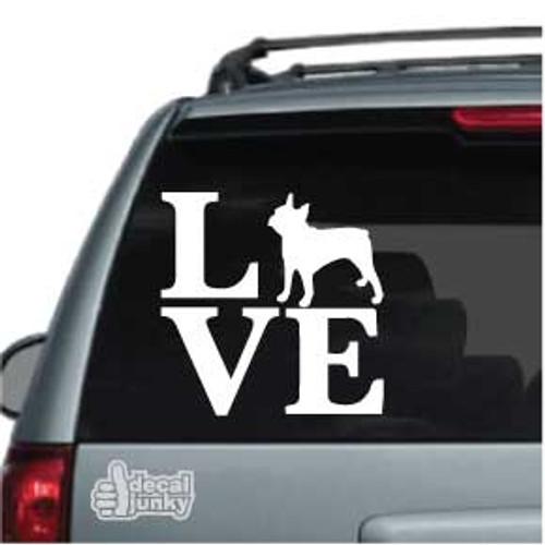 Boston Terrier Love Car Decal