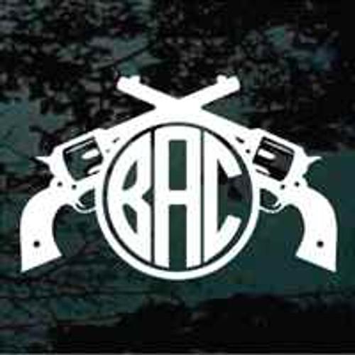 Crossed Pistols Monogram