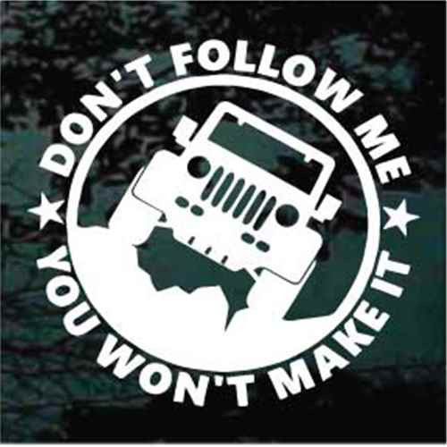Don't Follow Me Jeep