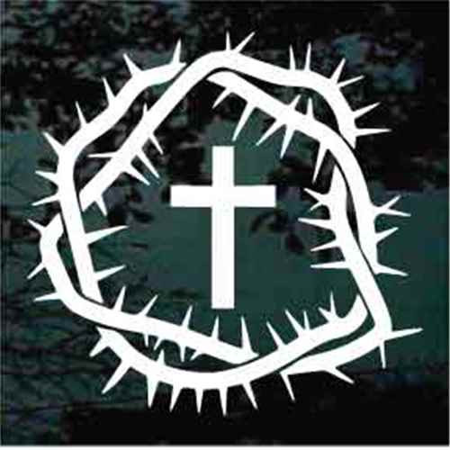 Crown Of Thorns With Christian Cross