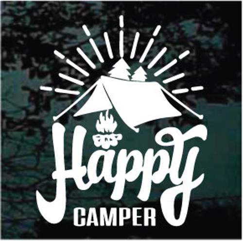 Decal Junky Happy Camper