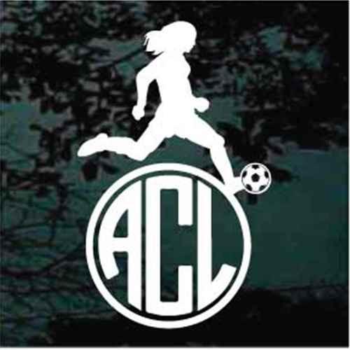 Girl Soccer Player Monogram
