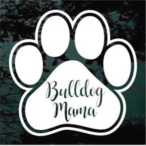 Bulldog Mama Paw Print