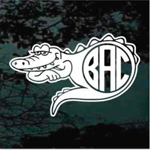 Alligator Monogram Decals
