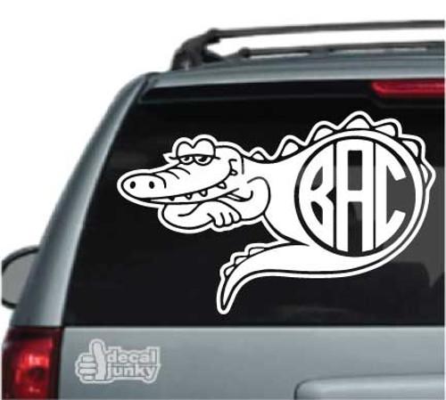 Alligator Monogram Stickers