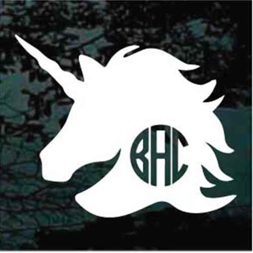 Unicorn Head Monogram