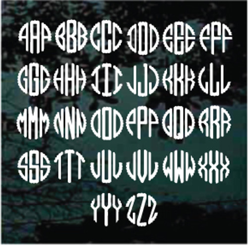 Scalloped Monogram