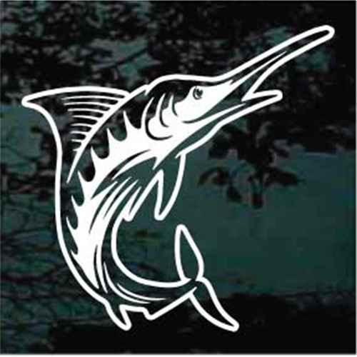 Detailed Marlin Fish Jumping
