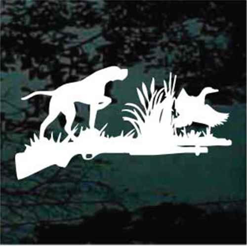 Dog Hunting Duck Silhouette