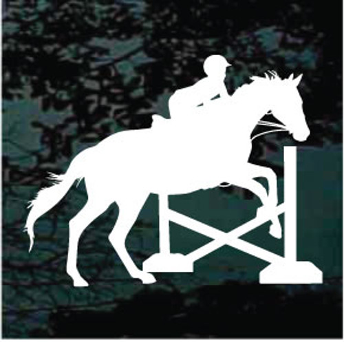 Child Horse Jumping Silhouette