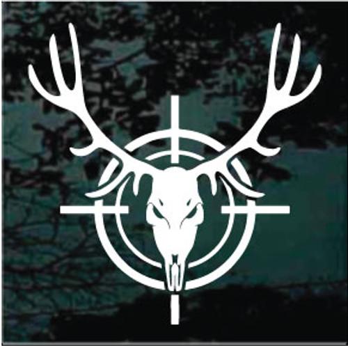 Deer Skull In Target Window Decal
