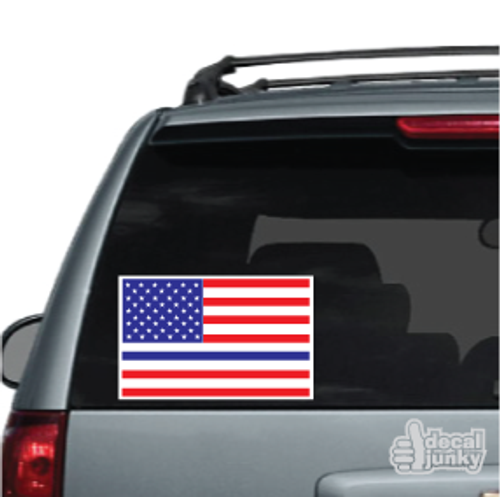 Flat American Flag Thin Blue Line