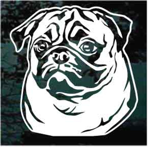 Pug Face Window Decals