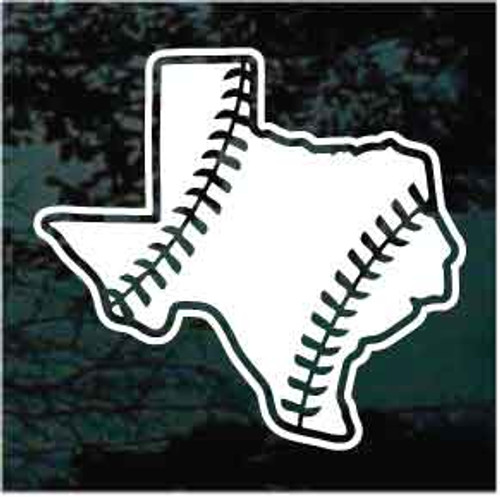 Texas State Baseball Window Decal