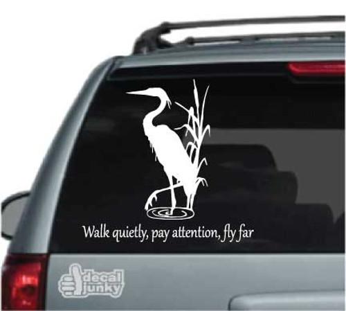 Custom Heron Walk Quietly