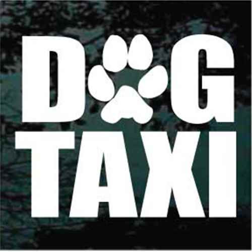 Dog Taxi With Paw Print