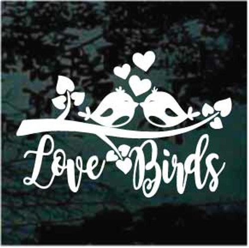 Love Birds on a branch Decals