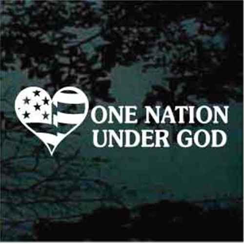 One Nation Under God Decals