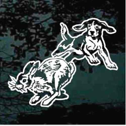 Beagle Chasing Rabbit