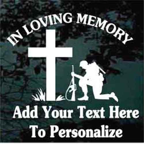 Soldier Praying Memorial Veteran Decals