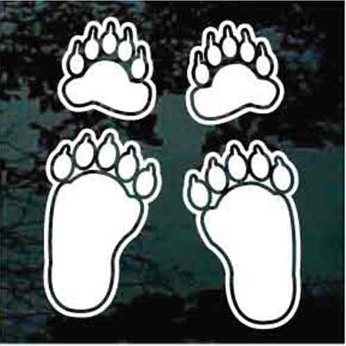 Bear Paw Car Decals