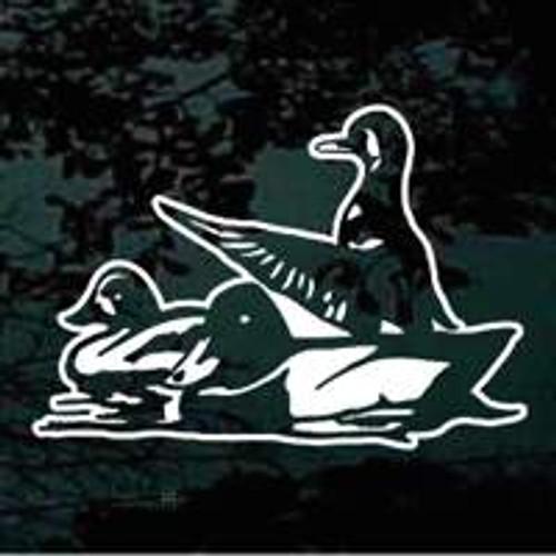 Three Ducks Sitting In The Water