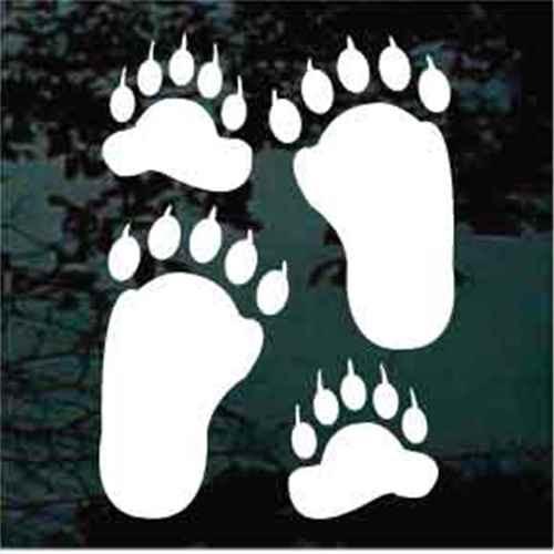 Bear Paw Decals