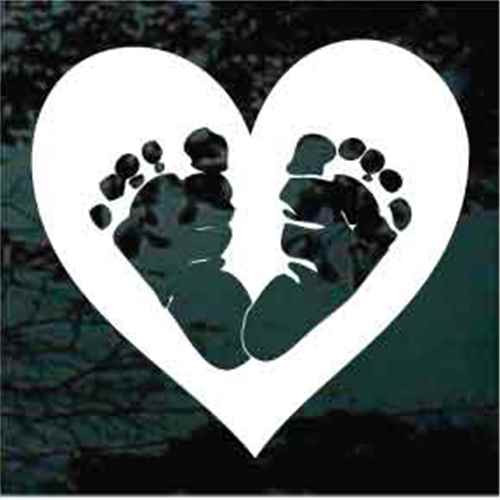 Baby Feet Prints Heart