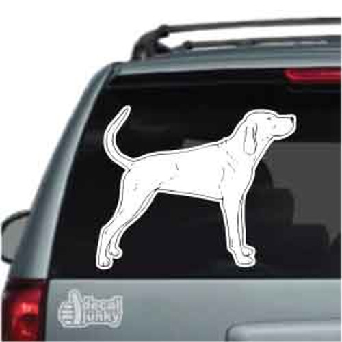 Redbone Coonhound Car Decals