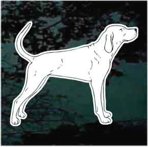 Redbone Coonhound Window Decal