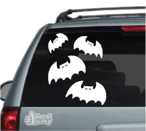 Cartoon Halloween Bats Stickers