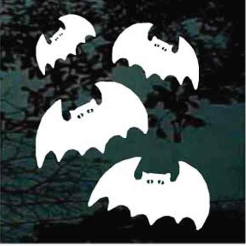 Cartoon Halloween Bats Decals