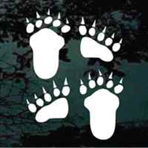 Bear Paw Tracks Decals