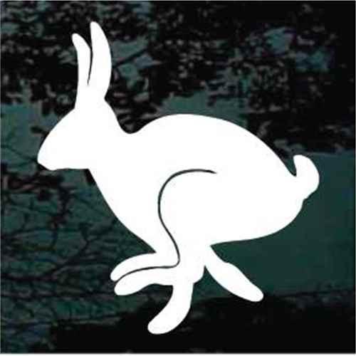 Rabbit Hopping Silhouette